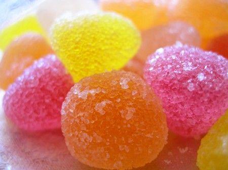 caramelle alla gelatina di frutta