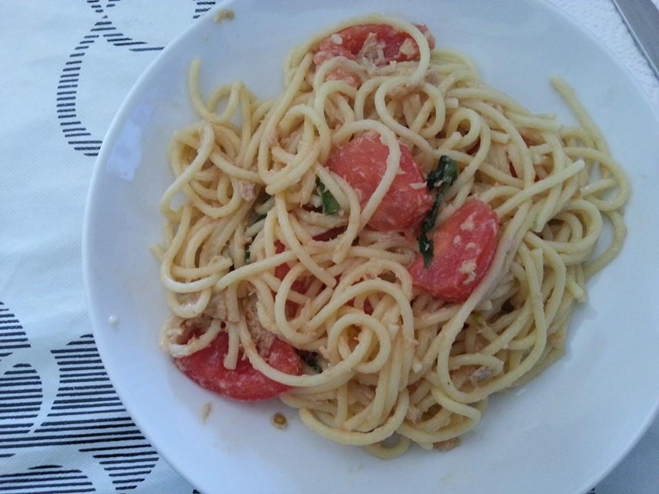 spaghetti tonno e pomodorini bimby