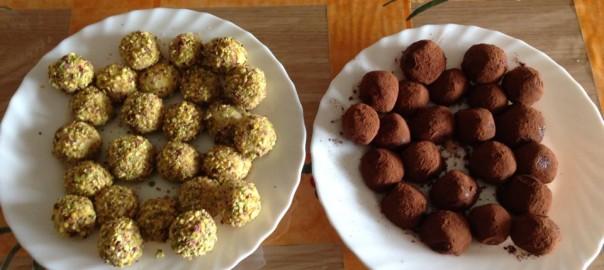 tartufi al cioccolato bianco e nero