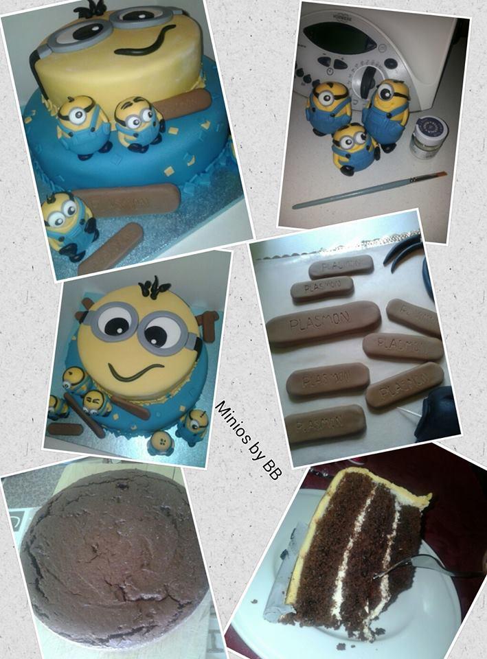 Torta brown cake con decorazioni in pdz