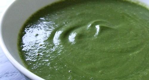 vellutata di spinaci bimby