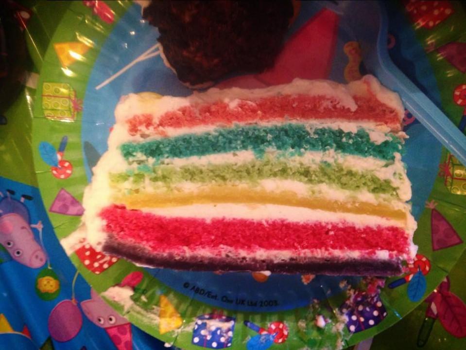 torta arcobaleno bimby