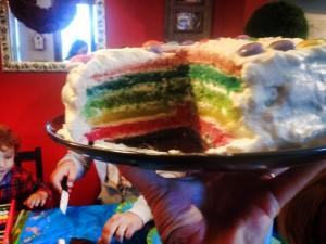 Foto ricetta Bimby torta arcobaleno bimby