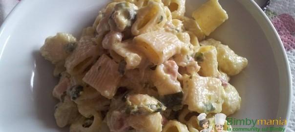pasta zucchine e pancetta bimby