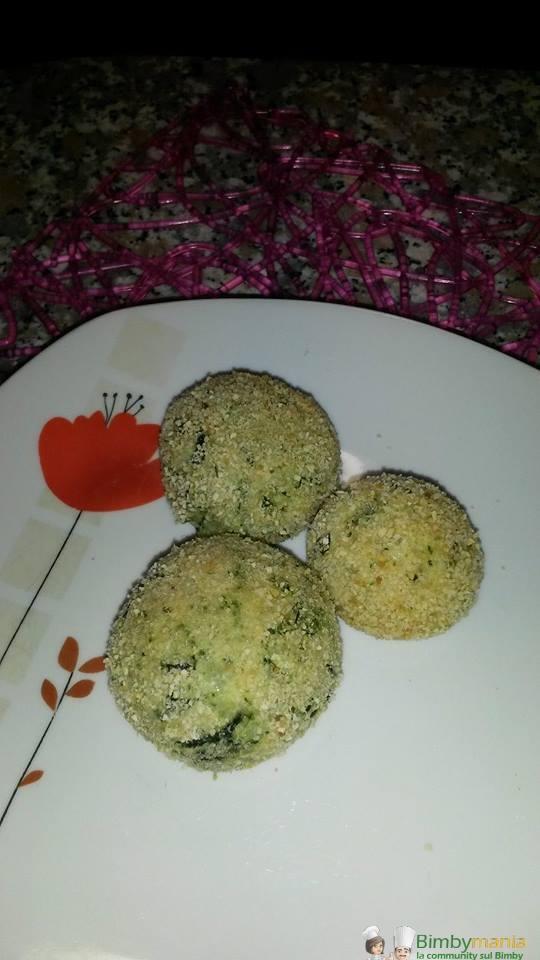 polpette mozzarella e spinaci bimby