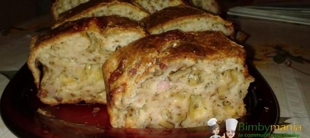plumcake salato al gorgonzola bimby