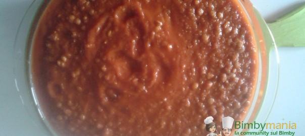 ragù di lenticchie bimby