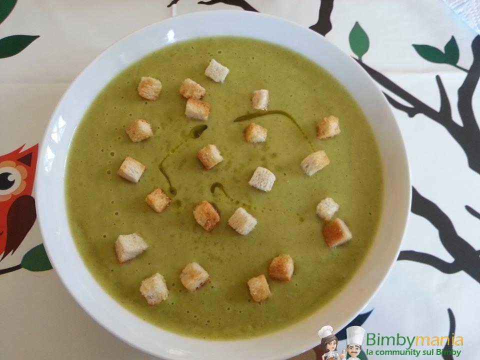 vellutata zucchine e patate bimby
