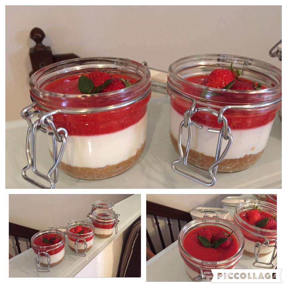 Foto ricetta Bimby cheesecake alle fragole bimby monoporzione
