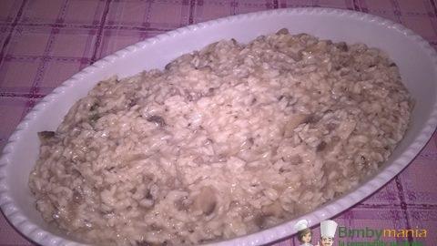 risotto funghi e salsicci abimby