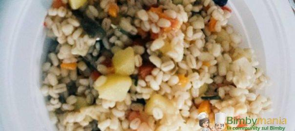 insalata di orzo e verdure bimby