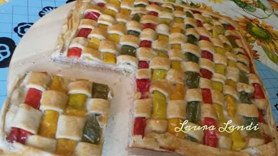 Torta salata arcobaleno Bimby