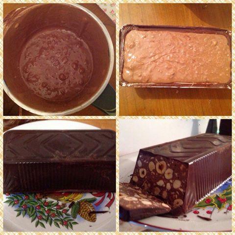 Torrone di cioccolata Bimby al triplo cioccolato