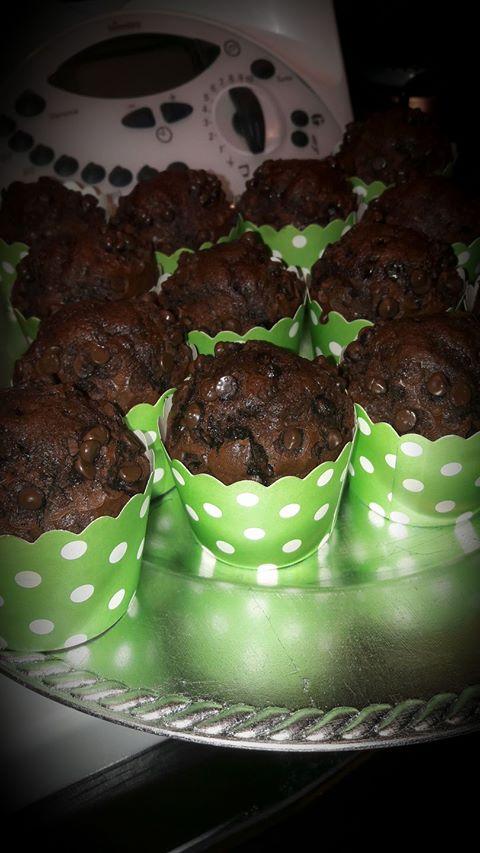 Muffin al cacao con gocce di cioccolato Bimby