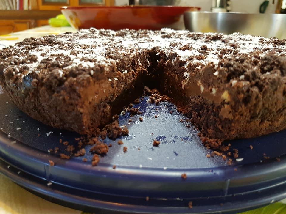 Sbrisolona cacao, cocco e Nutella Bimby