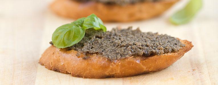 Bruschette al patè di Olive